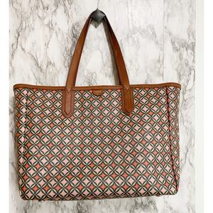 Fossil Sydney Signature Print Large Tote